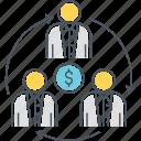 economy, profit sharing, sharing, sharing economy icon