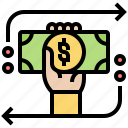 chargeback, money, payment, refund, transaction icon