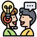 consultant, ideas, information, services, solution icon