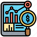 analysis, financial, marketing, report, research icon