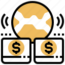 digital, finance, internet, money, transection icon