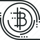 bitcoin, blockchain, cryptocurrency, decentralized, digital, finance, money, technology icon