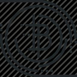 bitcoin, blockchain, cryptocurrency, decentralized, digital, finance, money, technology icon