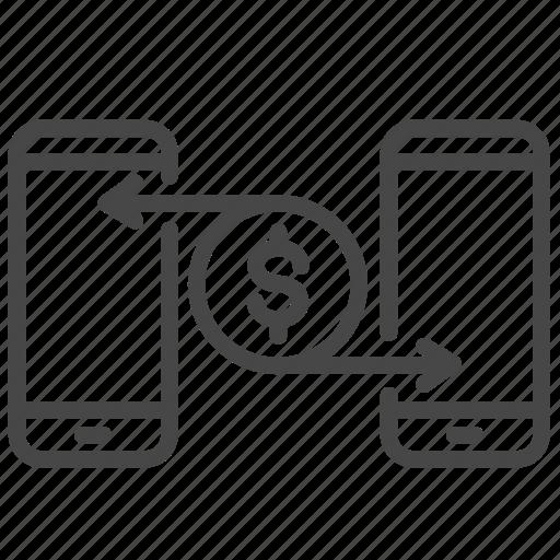 app, finance, fintech, money, trade, trading, transfer icon