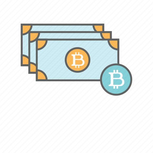 bills, bitcoin, blockchain, currency, dollar, money, notes icon
