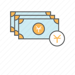 bill, cash, chinese, currency, finance, money, yuan icon