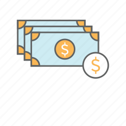 banking, bill, business, cash, dollar, finance, money icon