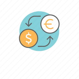 change, currency, exchange, interaction, money, replacement, transfer icon