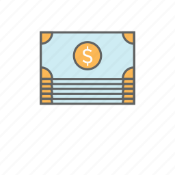 bill, cash, cash flow, currency, dollars, finance, money icon
