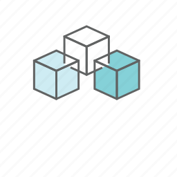 blockchain, building, cube, currency, data, digital, payment icon