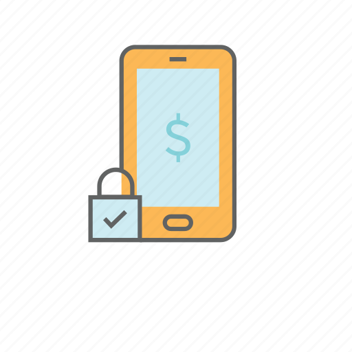 banking, dollar, financial, mobile, mobile bank, money, payment icon
