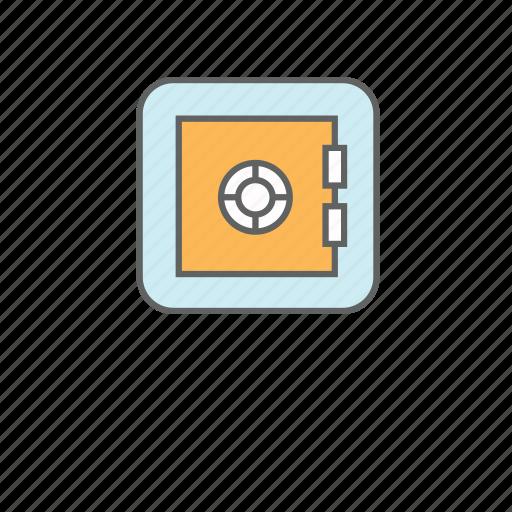 box, deposit, lock, private, safe box, safety deposit box icon