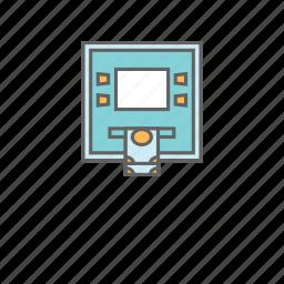 atm, atm card, atm machine, card insert, cash, money, slot icon