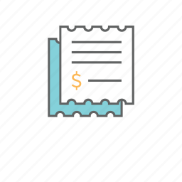 bills, cheque, credit, document, file, finance, invoice icon