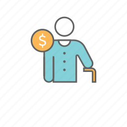 bank, finance, fund, money, pension, retirement, savings icon