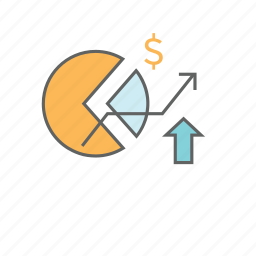 acquisition, business, chart, data, growth, investment, pie icon