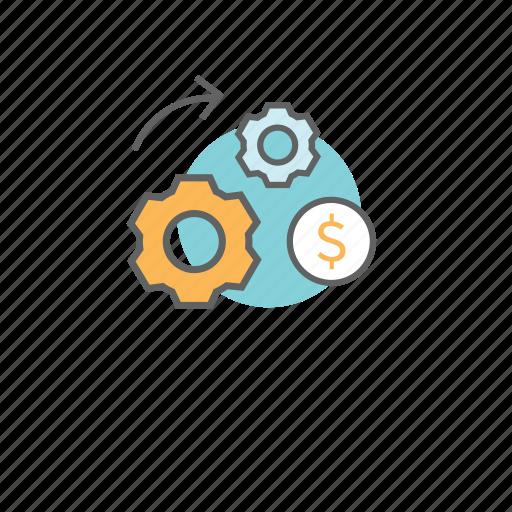 business, commerce, finance, making, monetization, money icon