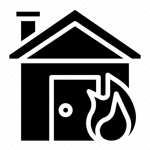 burn, emergency, fire, home, house, insurance icon