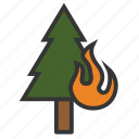 burn, firefighter, flame, forest, wildfire icon