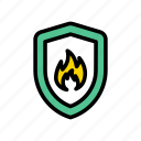 fire, flame, protection, safety, shield