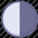 brightness, contrast, grey icon