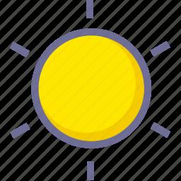 brightness, hot, sun, weather icon