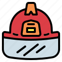 firefighter, helmet, protection, safety icon