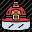firefighter, helmet, jobs, professions icon