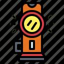construction, flashlight, illumination, light icon