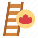 construction, firefighter, household, ladder icon