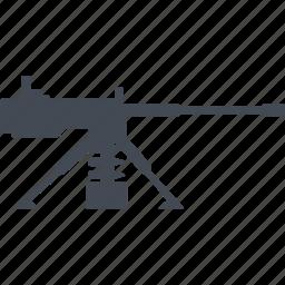 fire weapon, machine gun, military, weapon icon