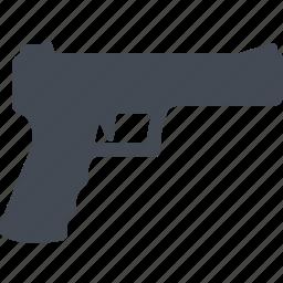 fire weapon, gun, military, pistol, weapon icon