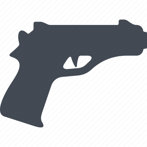 fire weapon, gun, military, pistol, weapon icon