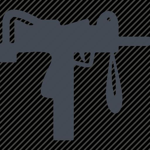 fire weapon, machine, machine uzi, shooting icon