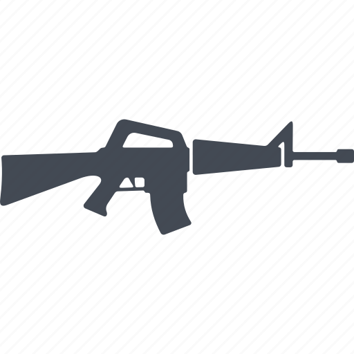 automatic, fire weapon, machine, military, weapon icon