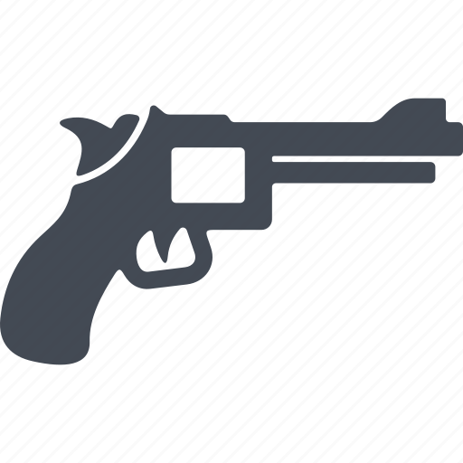 fire weapon, pistol, revolver, shooting icon