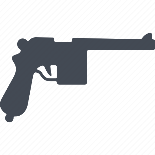fire weapon, gun, pistol, revolver, weapon icon