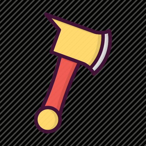 axe, burn, fighter, fire, fireman, job, service icon