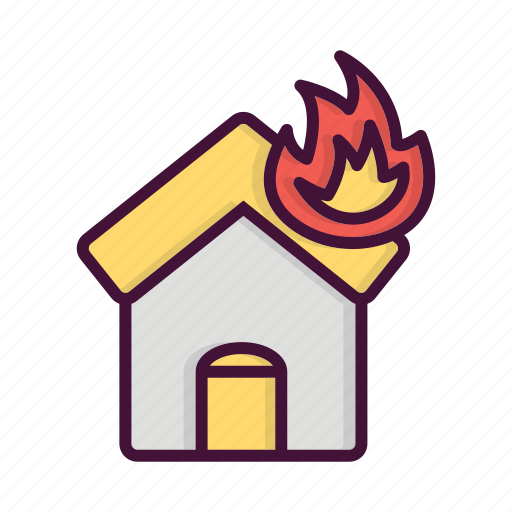burn, fighter, fire, fireman, house, job, service icon