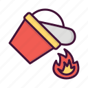 burn, fighter, fire, fireman, flush, job, water icon
