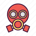 burn, fighter, fire, fireman, job, mask, smoke icon