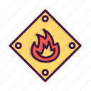 burn, fighter, fire, fireman, job, service icon