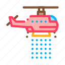 department, dept, drop, fire, helicopter, water icon