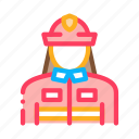 fire, fire-fighting, firefighter, suit icon