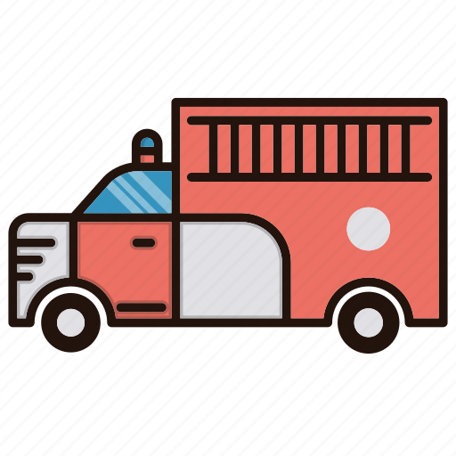 fire, transprtation, truck icon