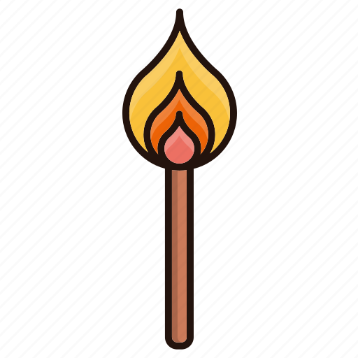 Fire, flame, lighter, stick icon - Download on Iconfinder