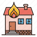 estate, fire, home, house icon