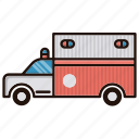 ambulance, equipment, transprtation, truck icon
