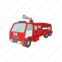 car, cartoon, emergency, engine, fire, truck, vehicle icon