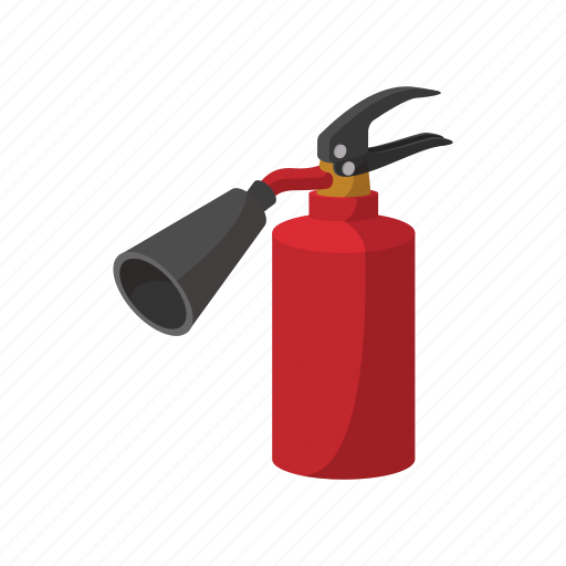 Extinguisher, emergency, fire, equipment, protection, cartoon icon